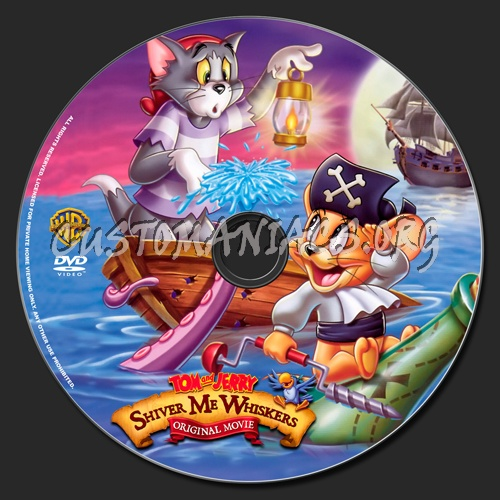 Tom and Jerry Shiver my Whiskers dvd label