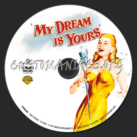 My Dream is Yours dvd label