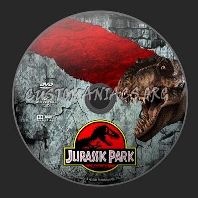 Jurassic Park dvd label