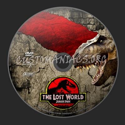 Jurassic Park - The Lost World dvd label