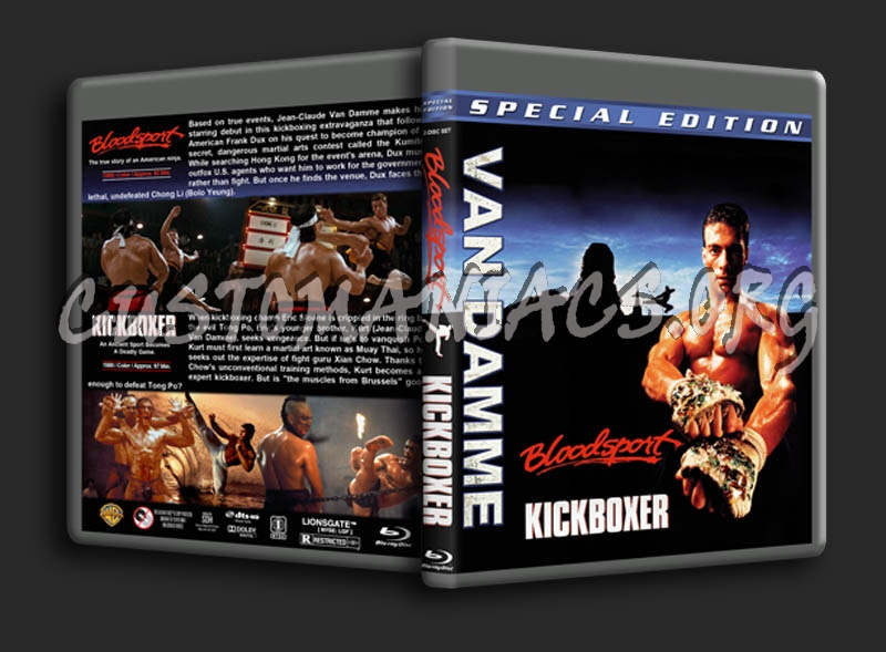 Bloodsport / Kickboxer Double Feature blu-ray cover
