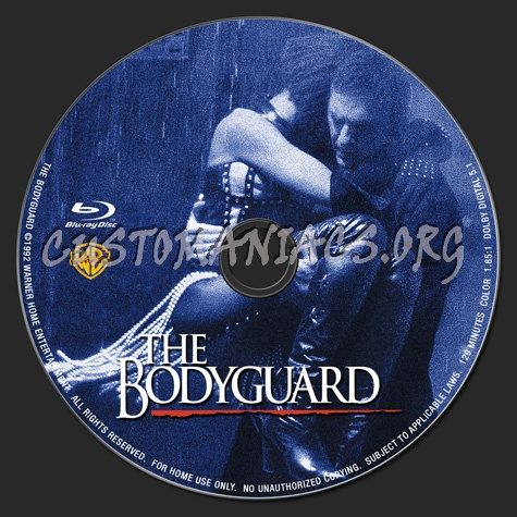 The Bodyguard blu-ray label