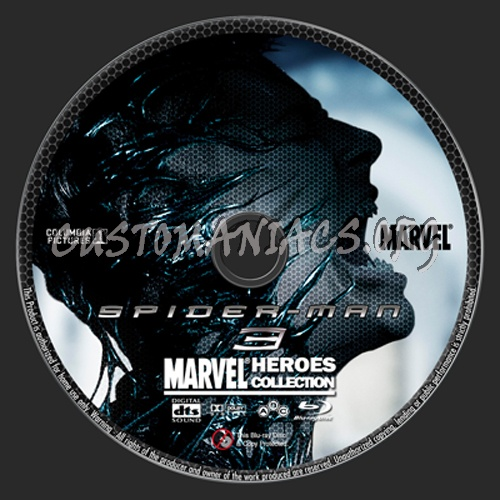 Marvel Heroes Collection: Spider-Man 3 blu-ray label