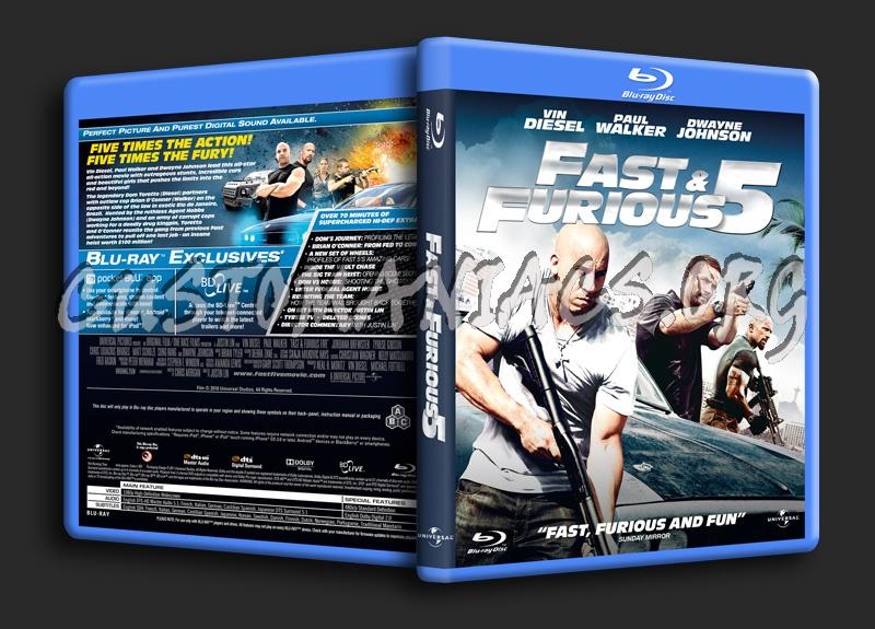 Fast & Furious 5 aka Fast 5 blu-ray cover
