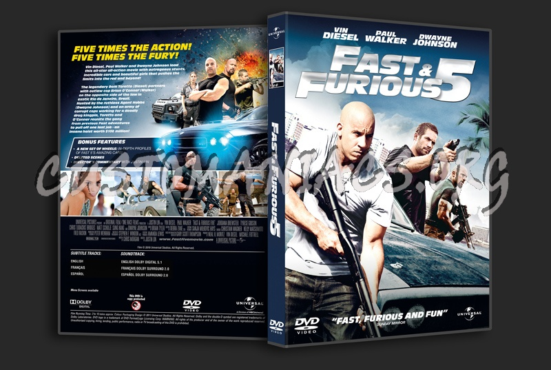 Fast & Furious 5 aka Fast 5 dvd cover