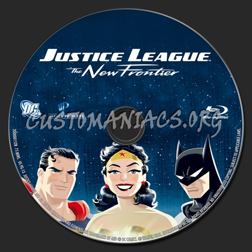 Justice League The New Frontier blu-ray label
