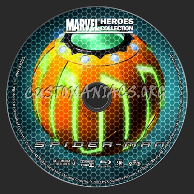 Marvel Heroes Collection: Spider-Man blu-ray label