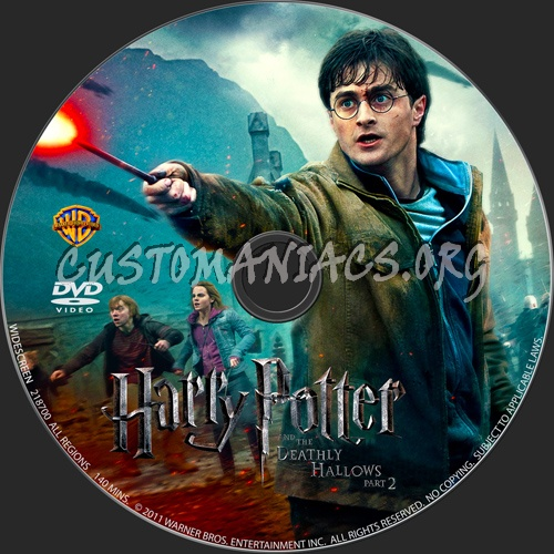 Harry Potter And The Deathly Hallows Part 2 dvd label