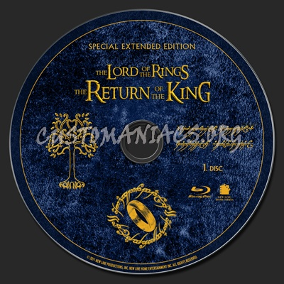 The Lord of the Rings: The Return of the King Special Extended Edition blu-ray label