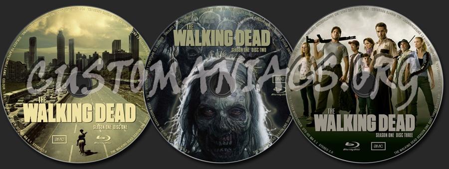 The Walking Dead Season 1 blu-ray label