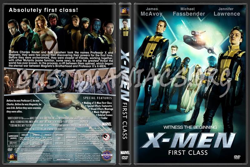 X Men Dvd Cover: X-Men: First Class Dvd Cover