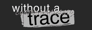 Without a Trace Title Treatment