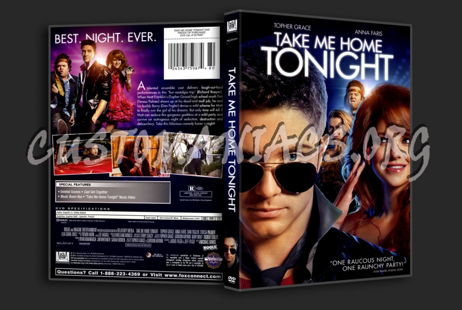 Take me home tonight dvd cover dvd covers labels by for Home by me download