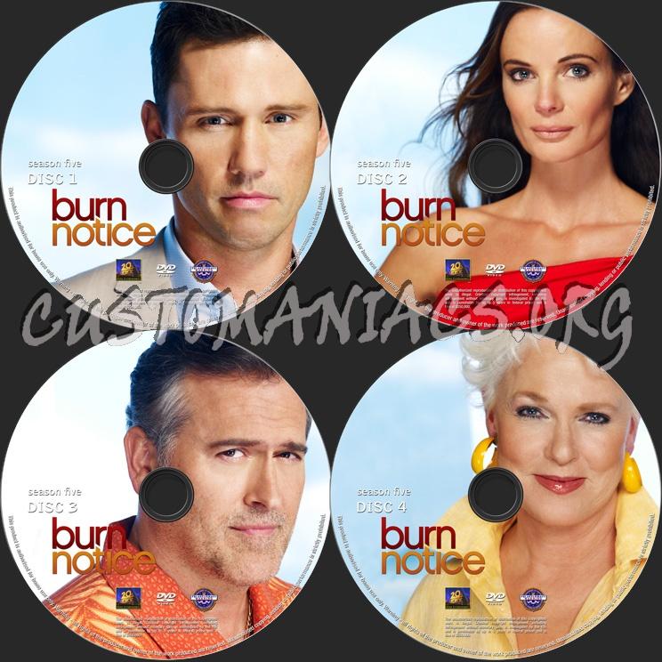 Burn Notice Season 5 dvd label
