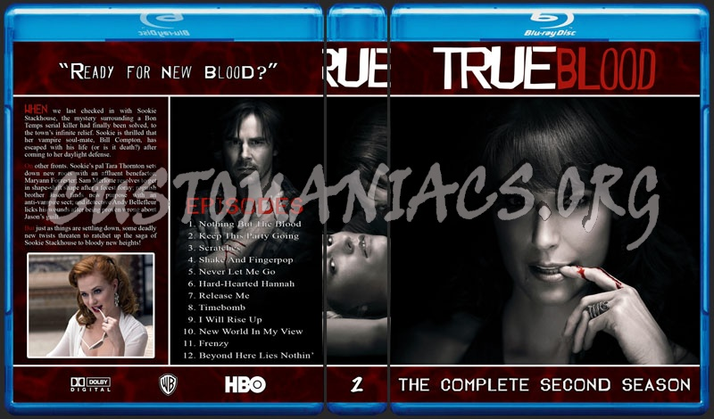 True Blood Seasons 1- 4 blu-ray cover