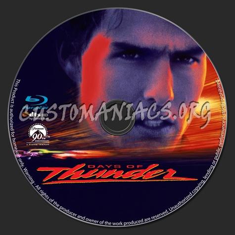 Days of Thunder blu-ray label
