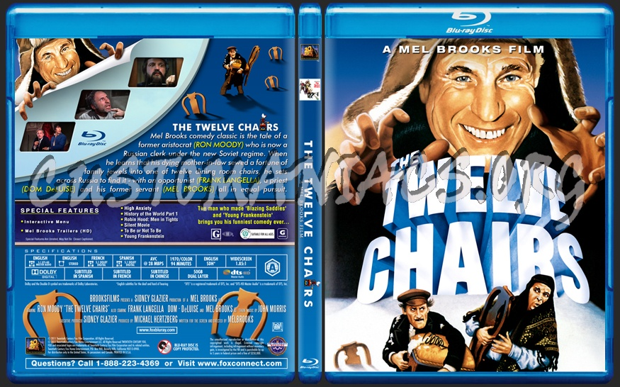 the twelve chairs blu-ray cover - dvd covers & labels by