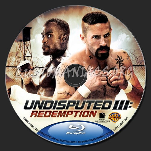 Undisputed 3 - Redemption blu-ray label