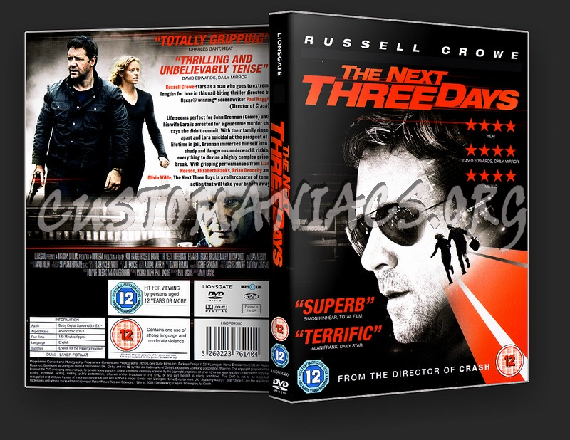The Next Three Days dvd cover