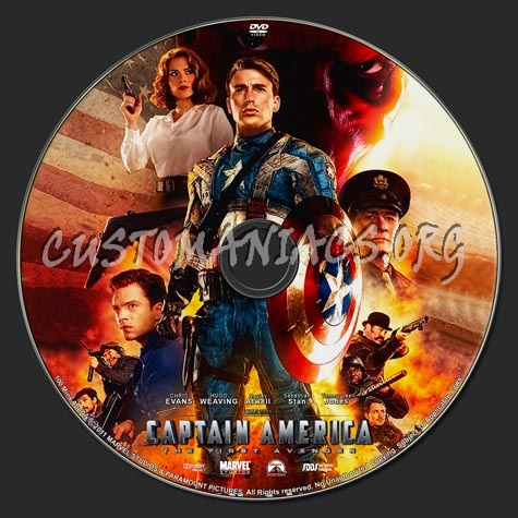 Captain America dvd label