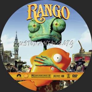 Rango dvd label