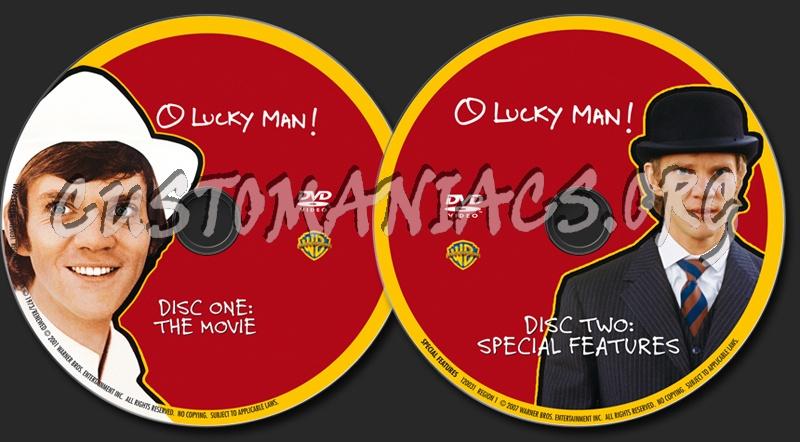 O Lucky Man! dvd label