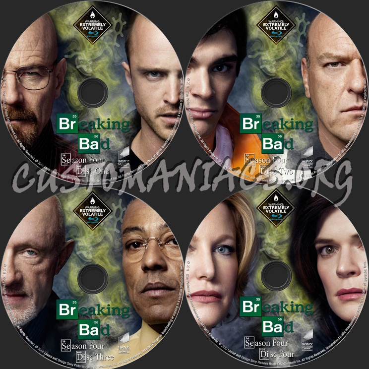 Breaking Bad Season 4 blu-ray label