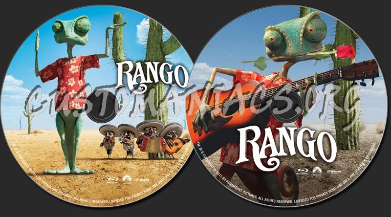 Rango blu-ray label