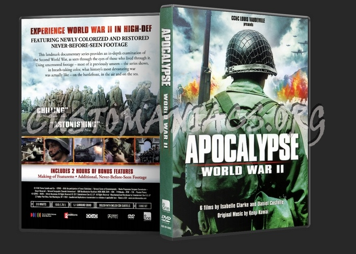 Apocalypse World War II dvd cover - DVD Covers & Labels by