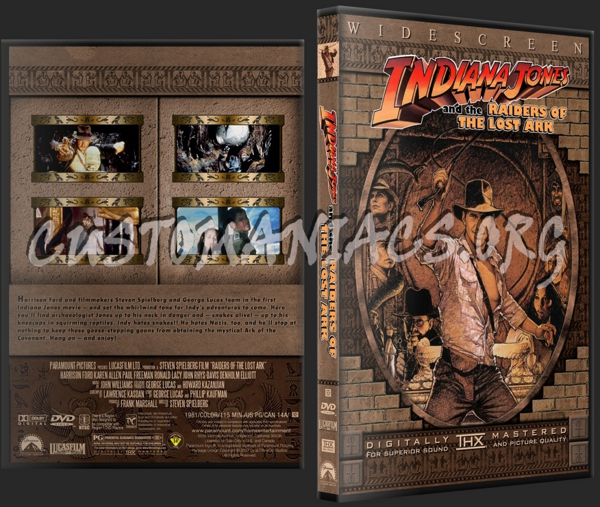 Indiana Jones and the Raiders of the Lost Ark dvd cover