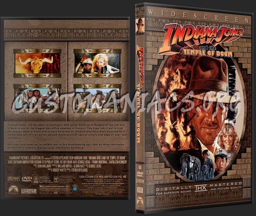 Indiana Jones and the Temple of Doom dvd cover