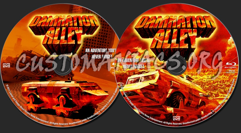 Damnation Alley blu-ray label