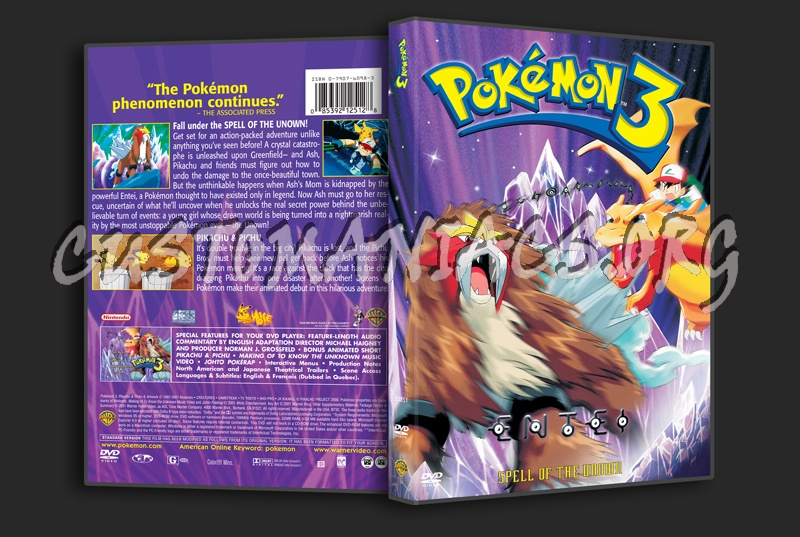 Pokemon 3 dvd cover