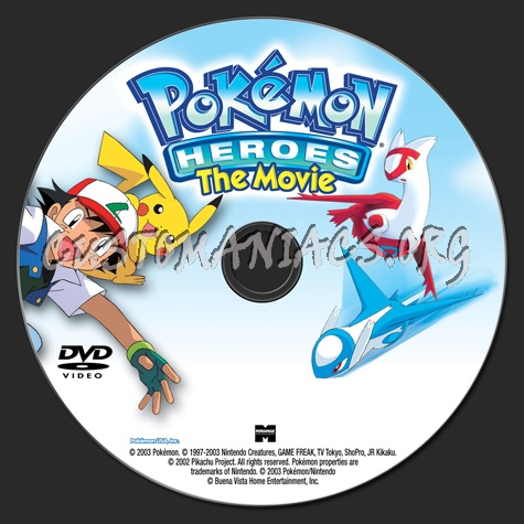 Pokemon Heroes The Movie Dvd Label Dvd Covers Labels By
