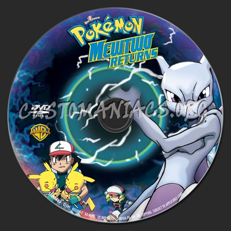 Pokemon Mewtwo Returns Dvd Label Dvd Covers Labels By