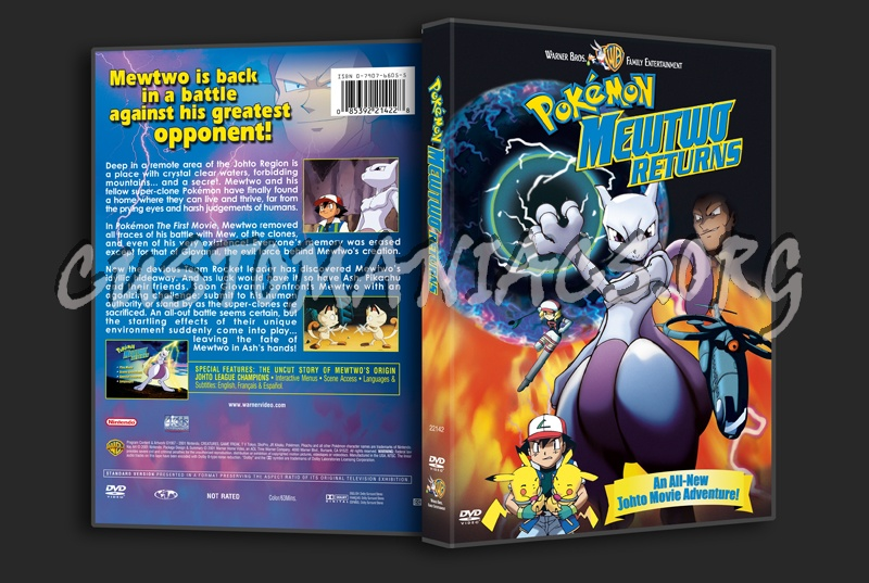 Pokemon Mewtwo Returns Dvd Cover Dvd Covers Labels By