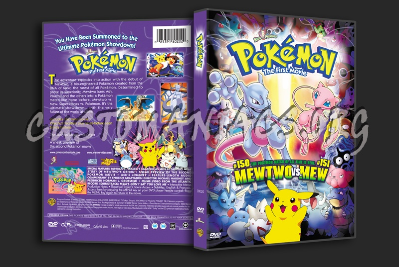 Pokemon The First Movie Dvd Cover Dvd Covers Labels By