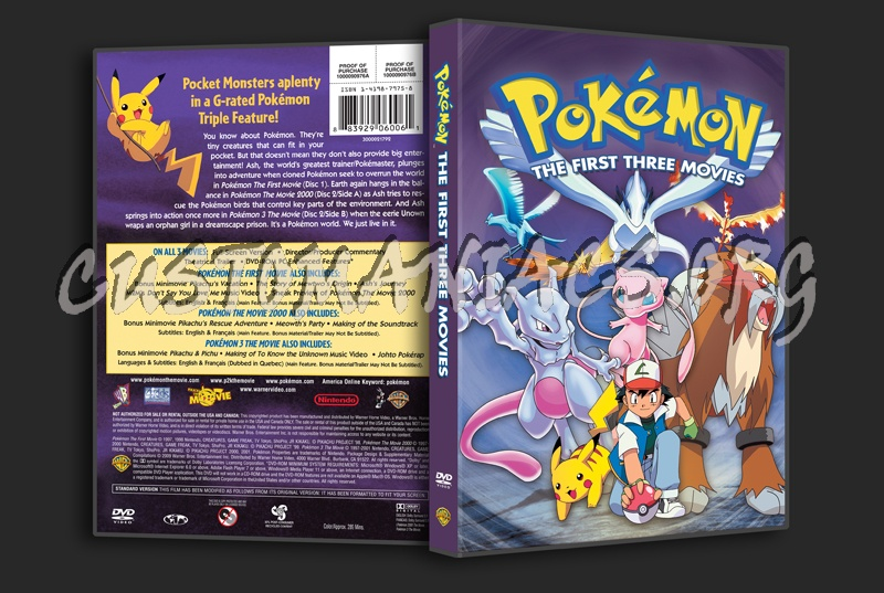 Pokemon The First Three Movies Dvd Cover Dvd Covers Labels By