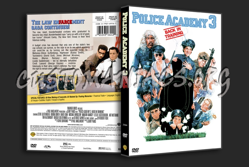 Police Academy 3 dvd cover