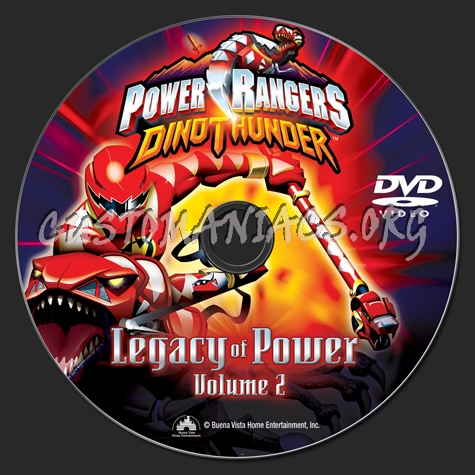 Power Rangers DinoThunder Leagcy of Power Volume 2 dvd label