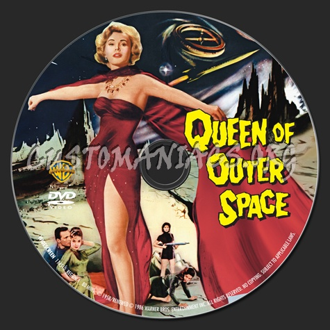 Queen of Outer Space dvd label