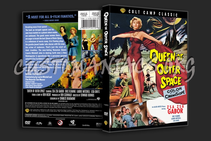 Queen of Outer Space dvd cover