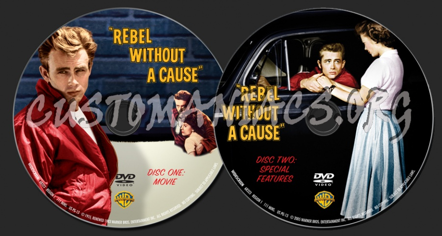 Rebel Without A Cause dvd label
