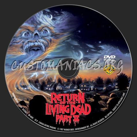 Return of the Living Dead Part 2 dvd label