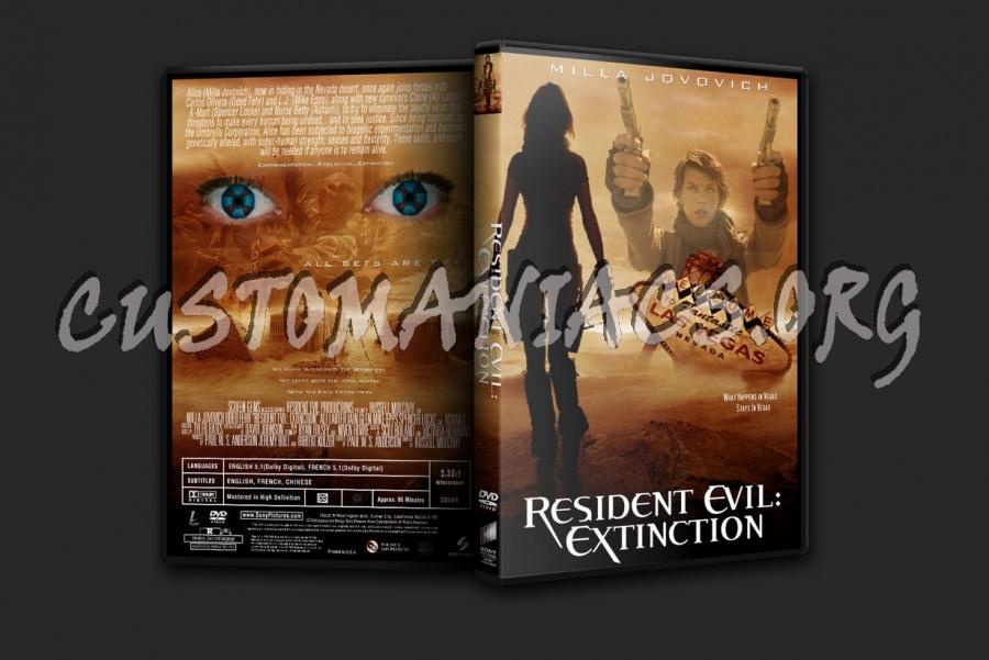 Resident Evil Extinction dvd cover