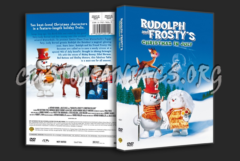 Rudolph And Frostys Christmas In July Dvd.Rudolph And Frosty S Christmas In July Dvd Cover Dvd