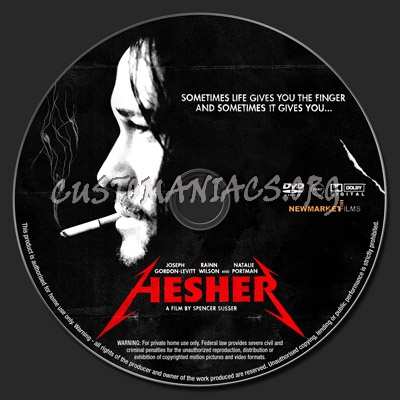 Hesher dvd label