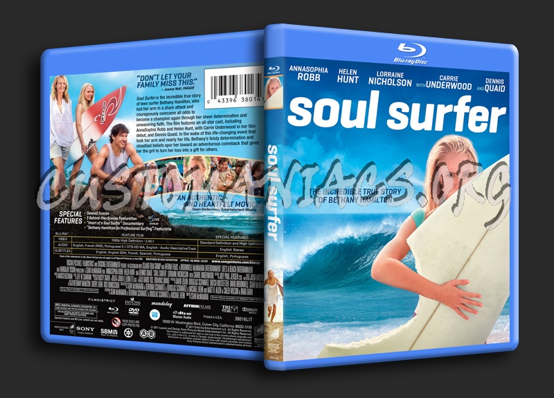 Surfer Blu Soul Surfer Blu-ray Cover