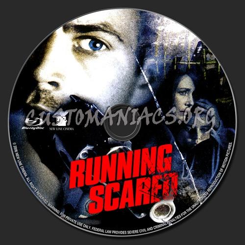 Running Scared blu-ray label