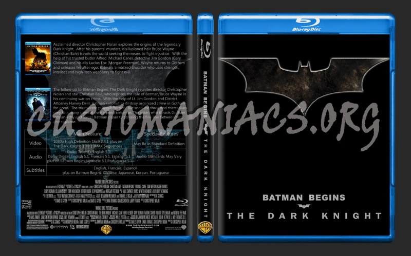 Batman Begins / The Dark Knight Combo blu-ray cover